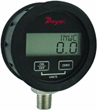 Dwyer DPGAB Series Digital Pressure Gauge with Boot, Water, Range 0 to 300 psig