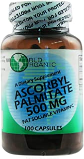 World Organic Ascorbyl Palmitate - 500 mg - 100 Capsules