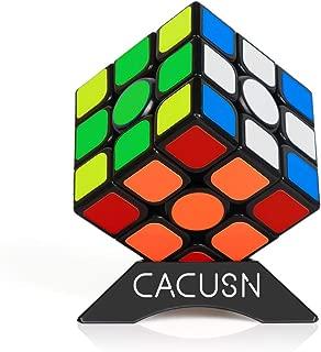 CACUSN スピードキューブ 【磁石内蔵】 M4.0 競技用キューブ 3x3x3 プロ向け 達人向け 中級者向け ステッカー 世界基準配色 マグネット スタンド付き