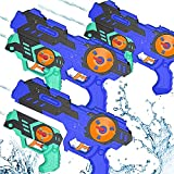 Water Gun for Kids Adults (3 Packs 6 Guns) 2 in 1 Squirt Guns Super Water Blaster Soaker Water Toys Yard Games Beach Pool Toys Toddler Outdoor Toys Boys Girls Outside Toys for Kids Age 4-8 8-12