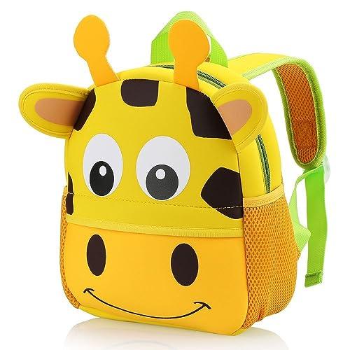 0e66c3b46a Hotrose Children Bag Kindergarten Cartoon Backpack Animal Pattern Rucksack  for Toddler Boys and Girls (giraffe