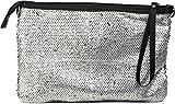 styleBREAKER Clutch Abendtasche im coolen Wende Pailletten Design, Schulterriemen und Trageschlaufe, Tasche, Damen 02012138, Farbe:Silber/Schwarz