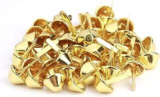50Pcs Nailhead Stud,Purse Handbag Cone Feet Nailhead Stud Spike Leather Craft Supplies(15mm-Gold)