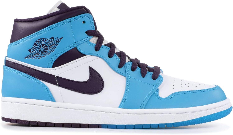 Amazon.com   Jordan 554724-415: Retro 1 Mid Mens White/Blue ...