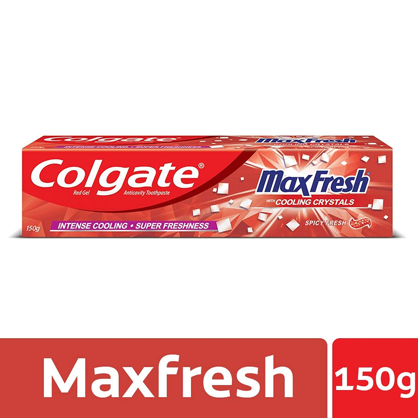 黒人ケーブルカーセンチメートルColgate MaxFresh Anticavity Toothpaste Gel, Spicy Fresh - 150gm