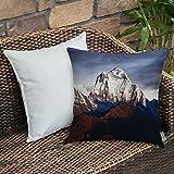 Dekokissen Kissenhülle,Nepal, Panoramafoto des Mount Dhaulagiri Dramatische...