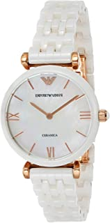 Emporio Armani Classic Men's Silver Dial Leather Band Chronograph Watch - AR1846