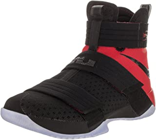 Nike Mens Lebron Soldier 10 SFG Black/Black University Red Basketball Shoe 12 Men US