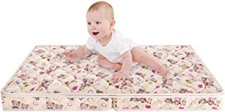 Folding Portable Crib Mattress Sponge Toddler Bed Mattress 5-inch Soft for Baby Travel with Removable 100% Cotton Cover