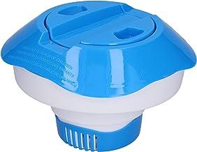Duokon Dispensador de Cloro Flotante para Piscinas, Dispensador de tabletas de Cloro Flotante telescópico Dispositivo de dosificación para Accesorios de Piscina (8 Pulgadas)