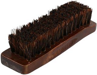 HOMYL Professional Practical HorseHair Shoes Shine Polish Buffing Brush Wooden