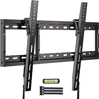 Perlegear Tilt TV Wall Mount Bracket Low Profile for Most 26-75 Inch LED LCD OLED Plasma Flat Curved Screen TVs, Large Til...