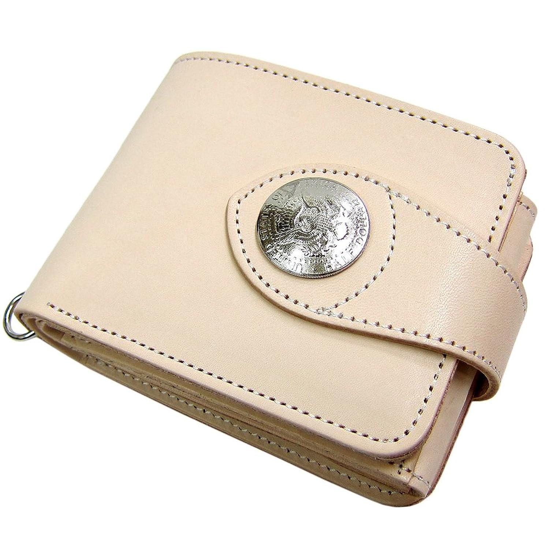 日本製 Maturi 国産 ヌメ革 2WAY 二つ折り 財布 イーグルコンチョ マトゥーリ MR-028 BE