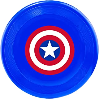 Buckle-Down Dog Toy Frisbee Flyer Captain America Shield Blue Red White