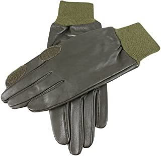 Dents Mens Purdy Hairsheep Leather Shooting Gloves - Olive