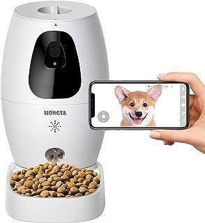 HONGSA Smart Pet Camera with Treat Dispenser & Tossing, Dog Cat Camera, 2.4G WiFi, 1080P Night Vision Camera, Live Video, ...