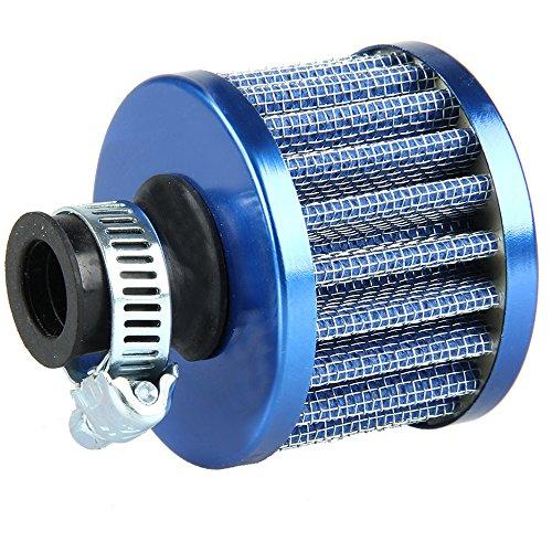 Mintice Filtre à Air Froid Reniflard Carter Turbo Ventilateur 12mm Mini Bleu pour Voiture Moto