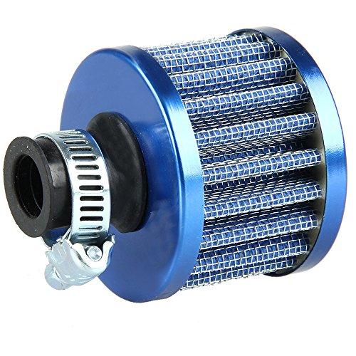 ESUPPORT Universal 12mm Mini Blue Cone Cold Air Intake Filter Turbo Vent Breather Car
