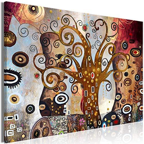 decomonkey Bilder Abstrakt Baum 60x40 cm 1 Teilig Leinwandbilder Bild auf Leinwand Vlies Wandbild Kunstdruck Wanddeko Wand Wohnzimmer Wanddekoration Deko Gustav Klimt