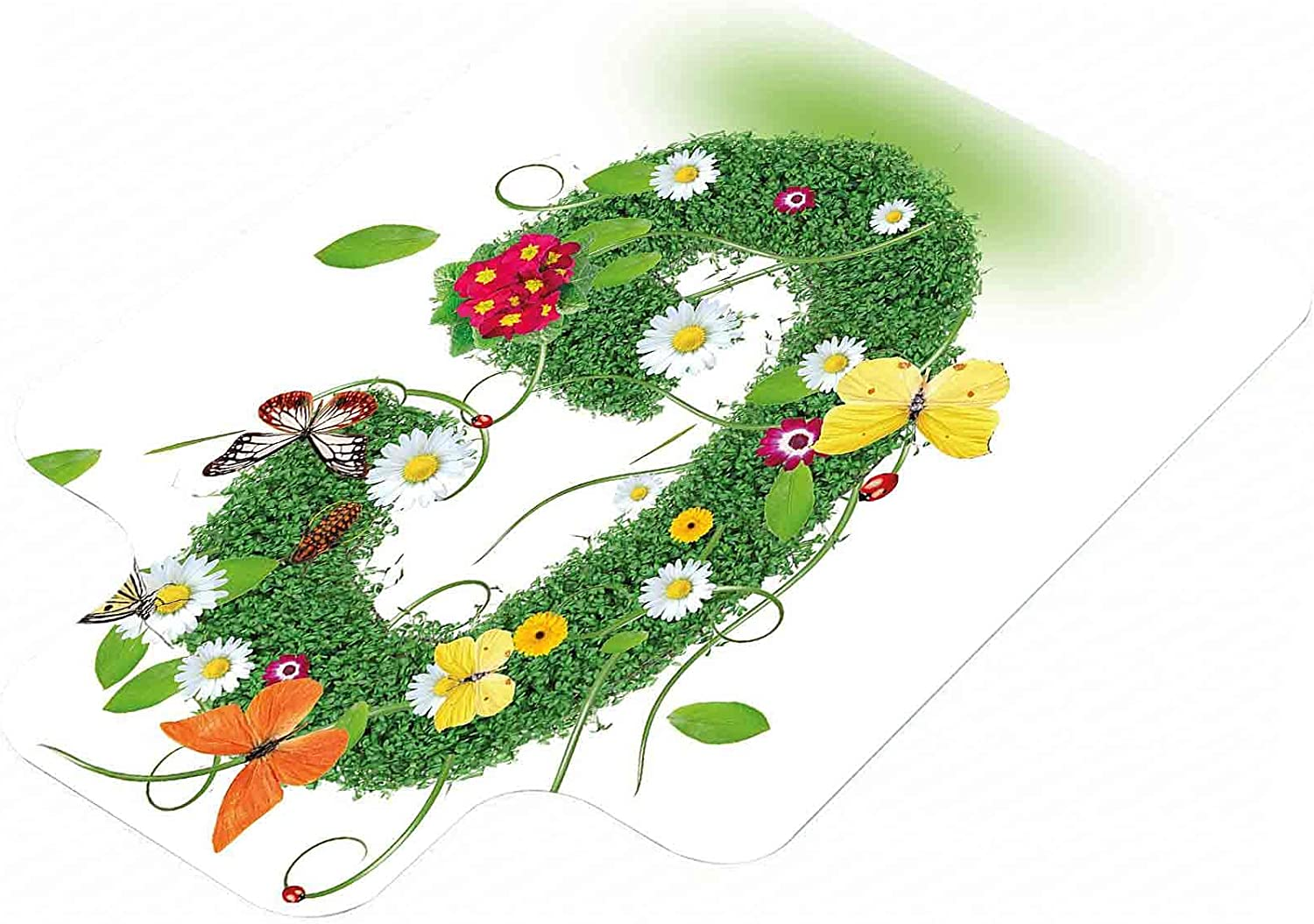 Letter G Chair Mat Spring Foliage Classic Theme Inspired Butterf Max 46% OFF Nature