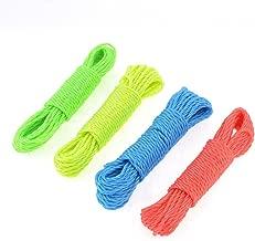 ELECTROPRIME Nylon Twisted Clothesline Clothes Line 9.5M 4 PCS Colored