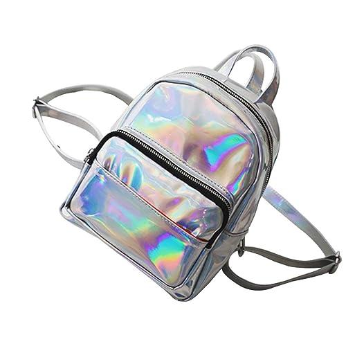 Tinksky Girl s Laser Hologram Backpack Casual Satchel Mini Hologram School  Bag Shoulder Bag for Travel ( ea636b9ff6f09