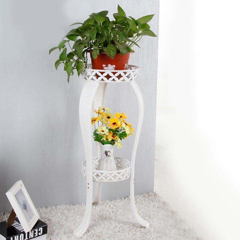 Flower Frame Wrought Iron Green Storage Rack Multi-Layer Indoor Balcony Living Room Multi-Function Floor-Standing Flower Rack Rack (color   White)