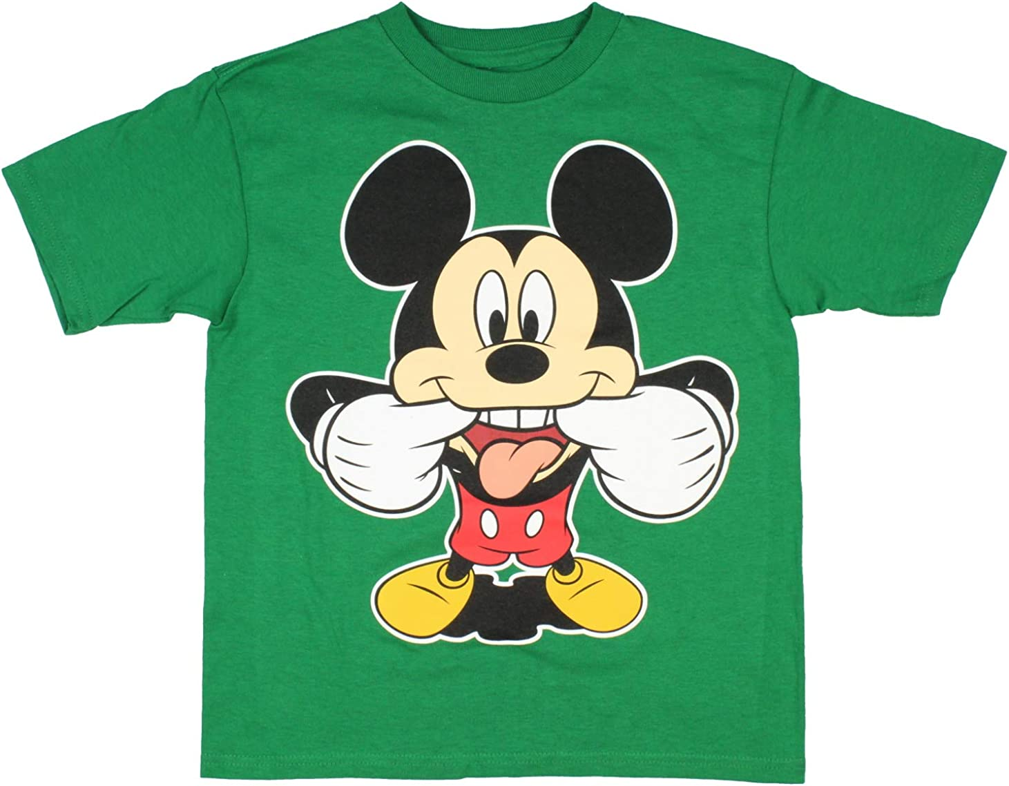 Disney Big Boys Mickey Mouse Pulling Funny Face T-Shirt