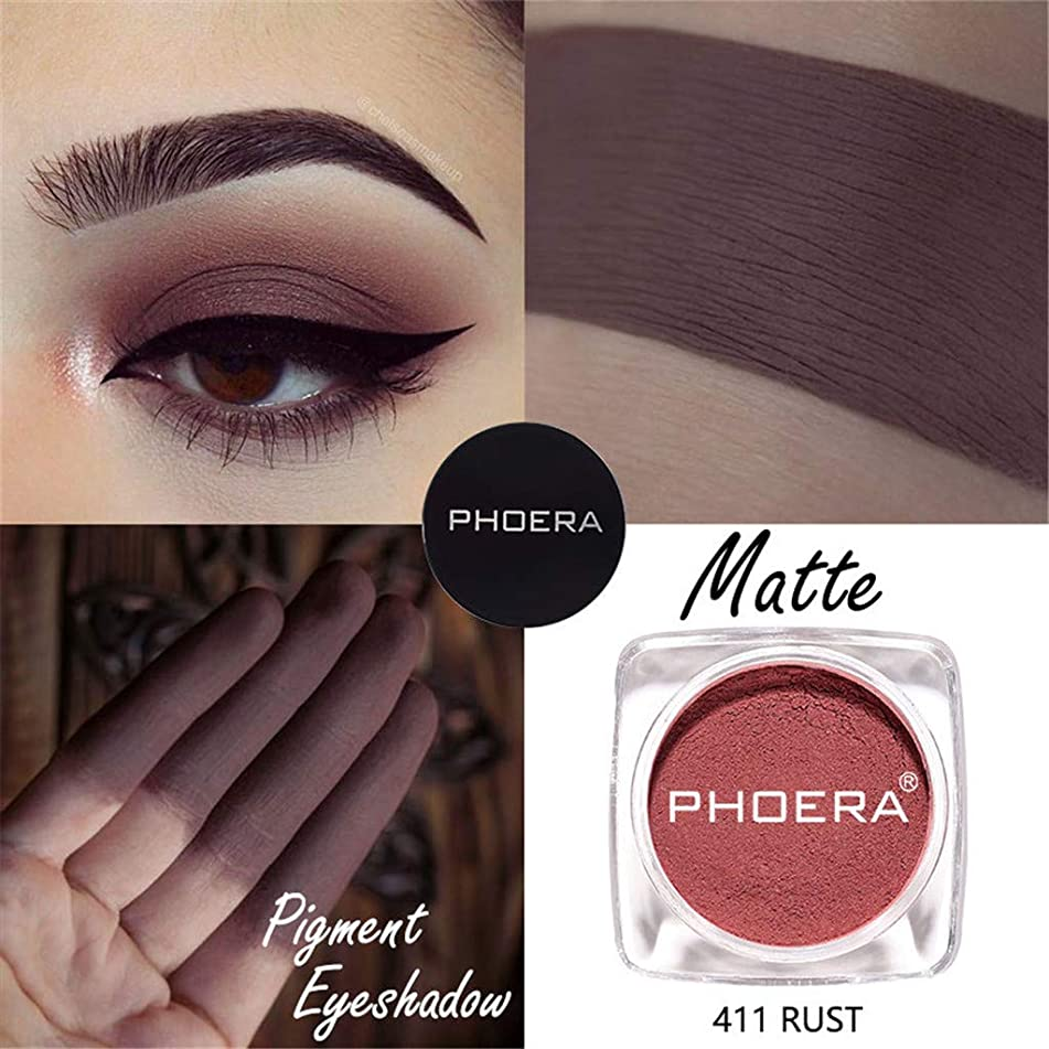 Yu2d ???? PHOERA Cosmetic Matte Eyeshadow Cream Eye Shadow Makeup Cosmetic(K)