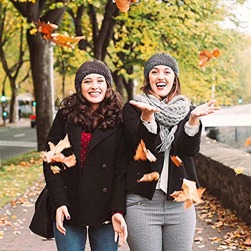 VEGCOO 6 Pcs Winter Knit Headbands, Women Knitted Headband, Trendy Chunky Knit Headbands Thermal Head Wraps, Elastic Turban Winter Ear Warmer