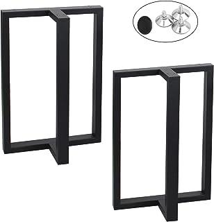 MBQQ 家具脚 高さ28インチ 幅17.7インチ 素朴な装飾T型テーブル脚 高耐久メタルデスク脚 ダイニングテーブル脚 工業モダン DIYアイロンベンチ脚