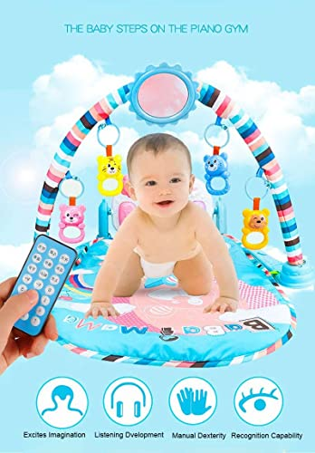 Arteki Baby Piano Music Play Mats Toys Activity Gym Toys Baby Soft Playmat Kids Infant Sports Mats Gym Educational Rack Toys 0-36Months