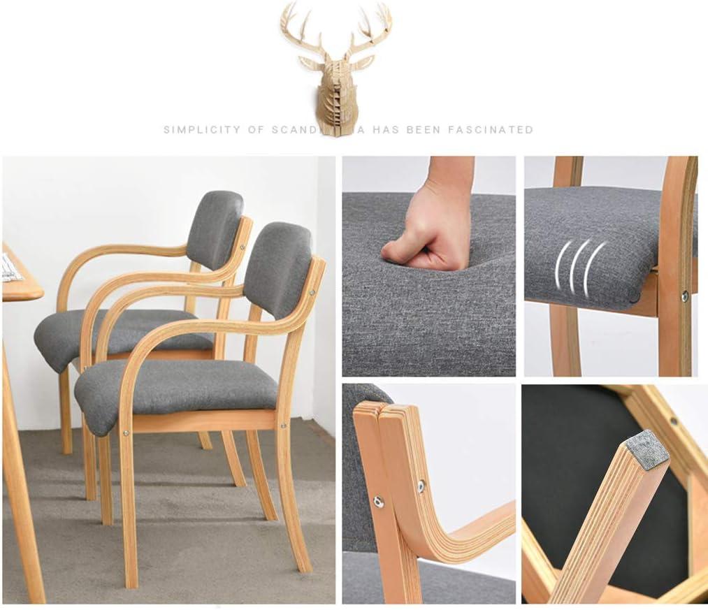 Calyvina Chaise de Chaise à Manger en Bois Massif empilable avec Dossier Confortable pour Les chaises de Salle à Manger de Cuisine pour Le Salon-Assemblage Facile,Blue Green