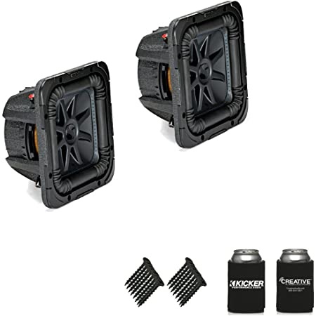 "KICKER 44L7S82 Solobaric L7 8"" Subwoofers Bundle - Dual 2-Ohm Voice Coils for Wiring to a 2-ohm monoblock Amplifier"
