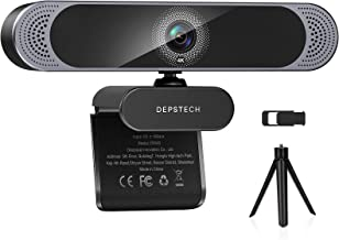 Webcam with Microphone, 2021 DEPSTECH 4K Webcam with Sony Sensor Autofocus Web Camera with Privacy Cover and Tripod, 8MP U...