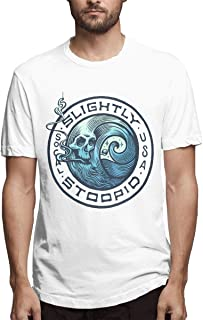 luo man Slightly-Stoopid Merch T Shirt for Women Womens Short Sleeve V Neck Black Cotton Tee Shirts Casual Clothes Tshirt