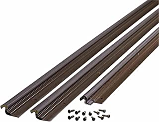 M-D Building Products 87783 Compression Weather Stripping with Aluminum Stop, 36-by-84 Inches, Bronze