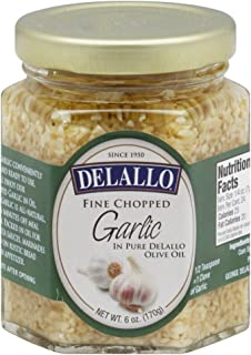 delallo minced garlic in water