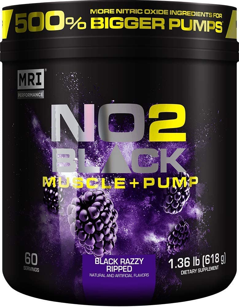 MRI NO2 Black Nitric Oxide Supplement for safety Regular store Muscle Growth Pump V