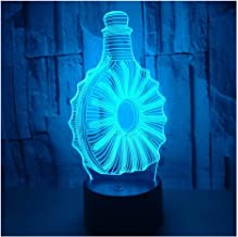 3D Optical Illusion LED Lamps Night Light,Amazing 7 Colors Quick Touch Switch Lamp with Smooth Acrylic Flat,USB Powered Deco Lamp,Birthday Christmas Holiday Gift for Kids and Friends,Wine_b