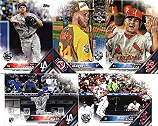 2016 Topps MLB Baseball Traded Updates and Highlights Series 300 Card Set Featuring Stars, Rookies and All Star Players Complete M (Mint)