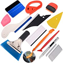 EHDIS Window Tinting Tools Vinyl Wrap Tool Kit Window Film Installation Kit with Vinyl Squeegee,Corner Squeegee,Wrap Stick,Vinyl Cutter Utility Knife and Blades