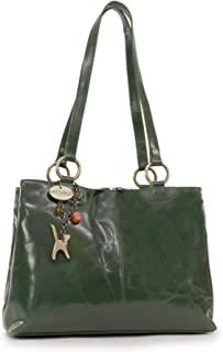 CATWALK COLLECTION - BELLSTONE - Bolso al hombro estilo shopper - Cuero vintage - Grande