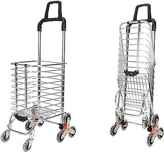 DoubleBlack Einkaufstrolley Einkaufswagen mit 8 Raeder Treppentrolley Klappbar
