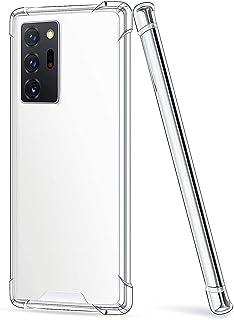 Samsung Galaxy Note 20 Ultra Case cover (2020), 6.9-Inch, Shock Absorption TPU Rubber Gel Transparent Anti-Scratch Clear B...