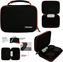 Vangoddy Harlin Protective Cube Carrying Case for Jazz Ultratab Q407 C755 C754 C714 C725, Padpal DC7 7 inch Tablets (Red Trim)