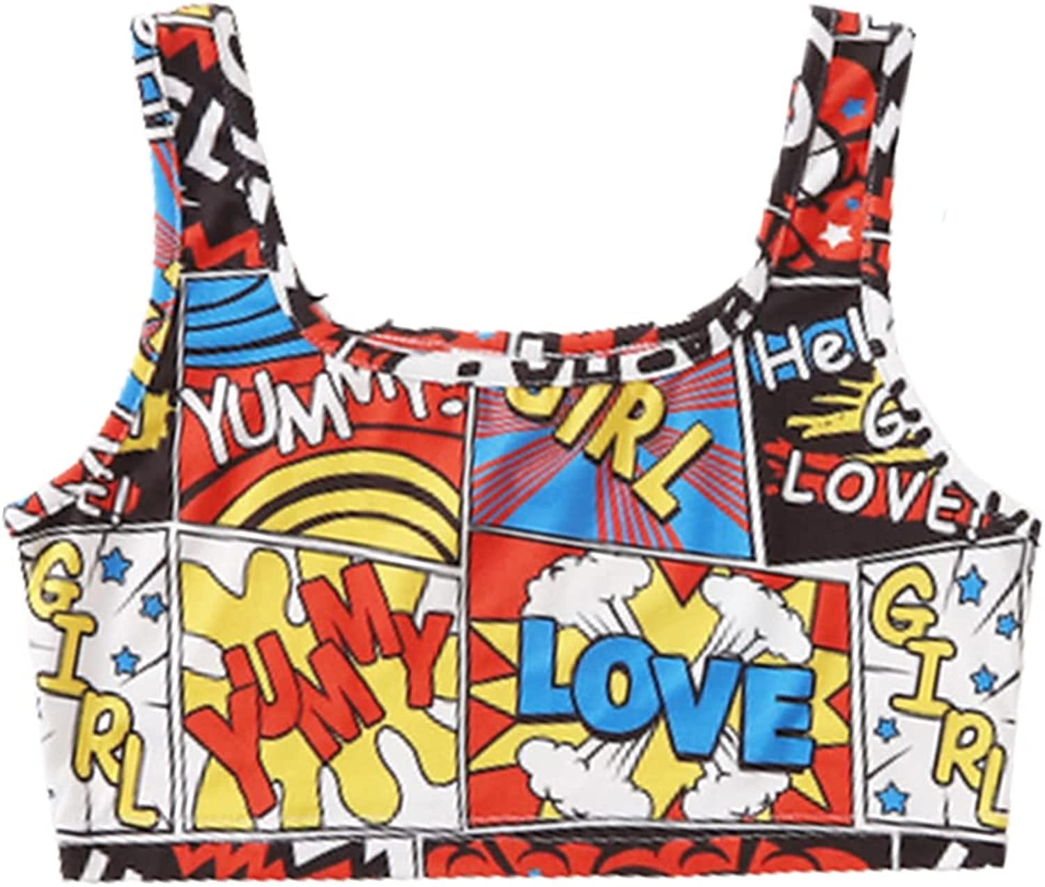 SOLY HUX Girl's Tie Dye Sleeveless Tank Top Bombing Max 73% OFF free shipping Knit Crop Ribbed