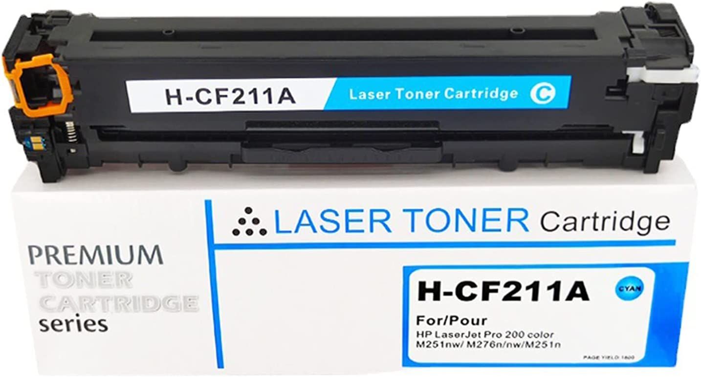 DLKJ 131X 131A Compatible Toner Cartridge Replacement for HP CF210X CF210A, Fits with Laserjet Pro 200 Color M251n M251nw MFP M276n M276nw Cyan