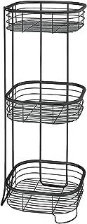 InterDesign バスルーム 洗面所 化粧品 小物 収納 棚 シェルフ 3段 Forma ブラック 28667EJ