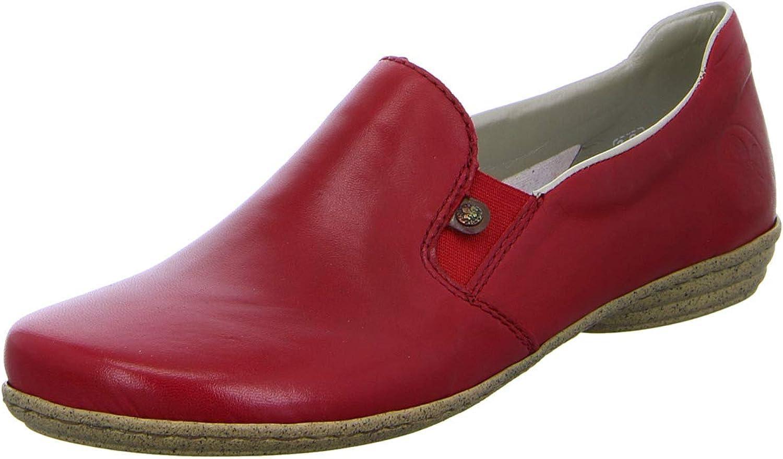 Rieker Women Flat Slipper red, (red Mogano) 53960-33